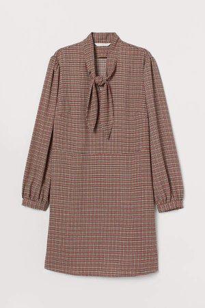 Dress with Ties - Beige