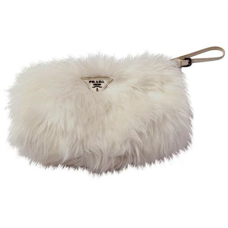 Prada Fur Clutch