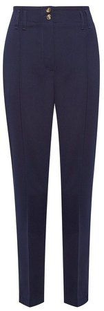 Navy Tapered Tailored Trousers