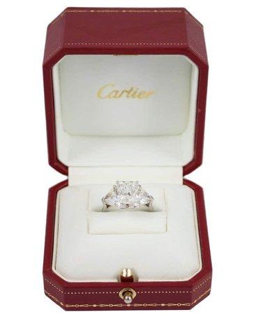cartier GIA diamond engagement ring