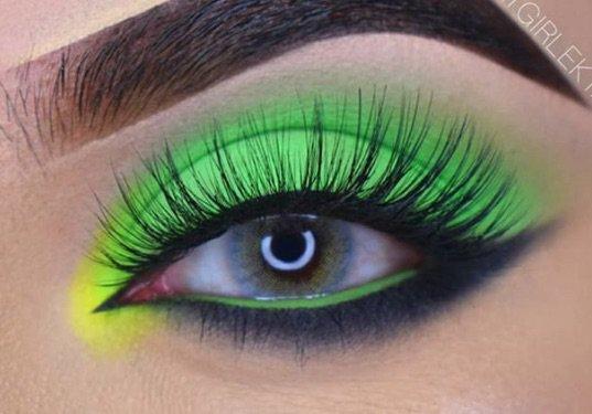 Green & Black Eye Makeup