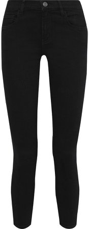 The Stiletto Cropped Mid-rise Skinny Jeans