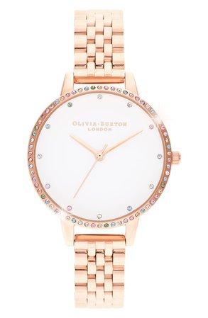 Olivia Burton Rainbow Bezel Bracelet Watch, 34mm | Nordstrom
