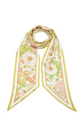 Floral-Print Silk-Twill Scarf by Zimmermann | Moda Operandi