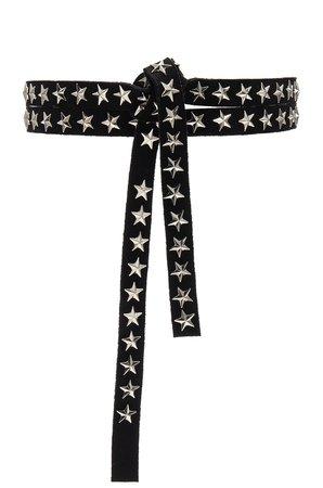 Star Studded Skinny Belt