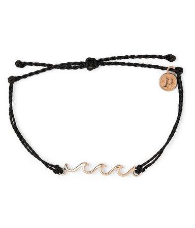 Pura Vida Triple Wave Charm Bracelet - Women's Jewelry in Black | Buckle