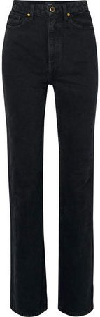 Danielle High-rise Straight-leg Jeans - Black