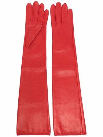 Manokhi long leather gloves - FARFETCH