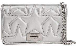 Metallic Quilted Leather Clutch