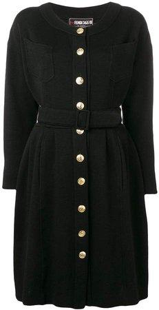 1980's Long-Sleeved Belted Dress