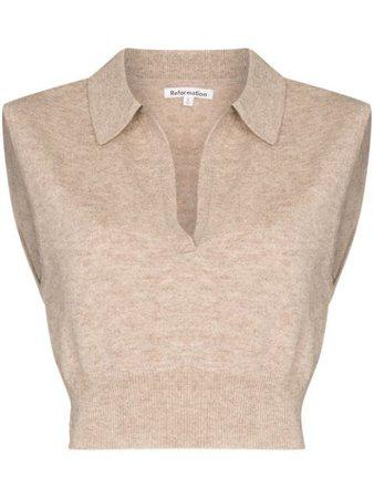 Reformation Gezim collared sweater vest - FARFETCH