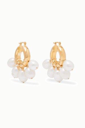 Gold Kavala gold-plated pearl earrings | éliou | NET-A-PORTER