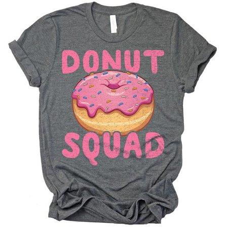 Donut Squad Shirt / Donut Birthday Shirt / Donut Lover / Pink | Etsy