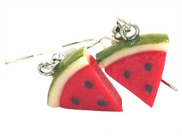 Amazon.com: Polymer Clay Handmade A Mini Watermelon Slice Earrings: Jewelry