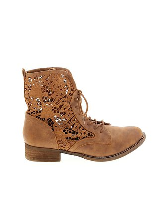 Not Rated Paisley Brown Tan Boots Size 6 - 54% off | thredUP