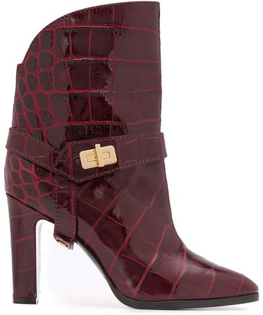 Eden crocodile-effect boots