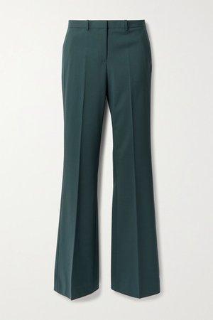 Demitria 4 Wool-blend Flared Pants - Dark green