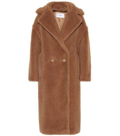 Wool and silk-blend coat