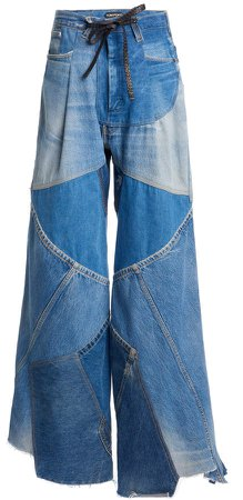 Tom Ford Wide-Leg Patchwork Jeans