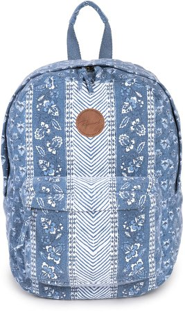 Navy Floral Beach Canvas Backpack