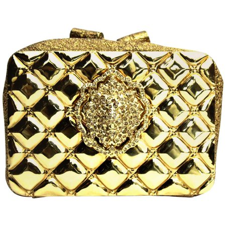 Chanel Clutch Moscow Lion Gold and Metallic Leather