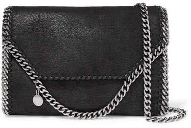 The Falabella Faux Brushed-leather Shoulder Bag - Black