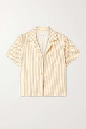 Havana Striped Cotton-poplin Shirt - Mustard