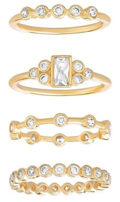 Yellow Gold Stackable Rings