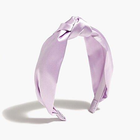 Girls' satin knotted headband