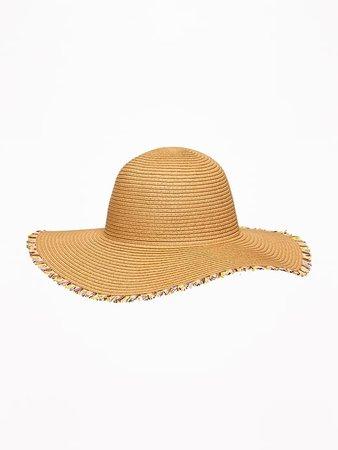 Fringed Straw Sun Hat for Toddler Girls | Old Navy