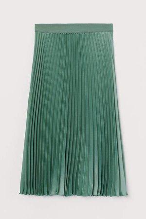 Pleated Skirt - Green