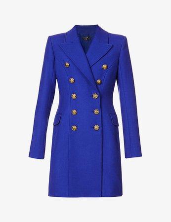 BALMAIN - Double-breasted wool coat | Selfridges.com