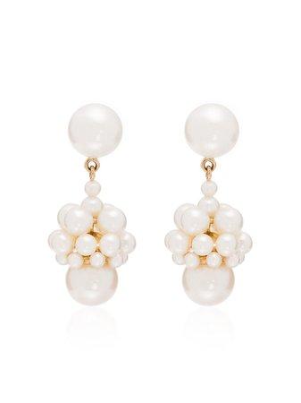 Sophie Bille Brahe 14kt Yellow Gold Poire Pearl Drop Earrings - Farfetch