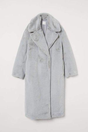 Faux Fur Coat - Gray