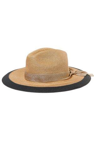 Eres | Jo grosgrain-trimmed woven paper hat | NET-A-PORTER.COM