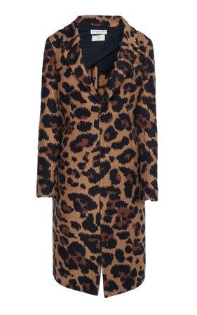 Leopard-Print Mohair Coat by Bottega Veneta   Moda Operandi