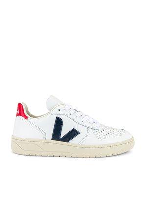 Veja V-10 Sneaker in Extra White & Nautico & Pekin | REVOLVE
