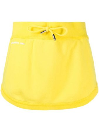 Dsquared2 Short Drawstring Waist Skirt S72MA0793S25030 Yellow | Farfetch