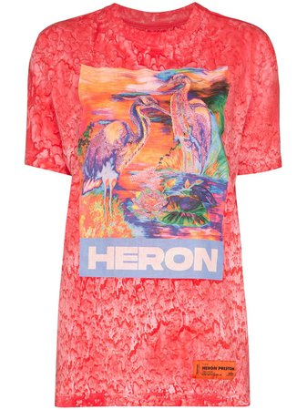 Heron Preston Heron Birds Print T-Shirt | Farfetch.com
