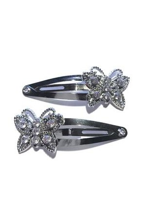 Rhinestone Butterfly Snap Clips – Tunnel Vision