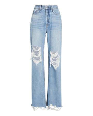 GRLFRND Carla Wide-Leg Jeans | INTERMIX®