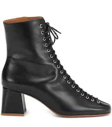 Becca Leather Ankle Boots - By Far   mytheresa