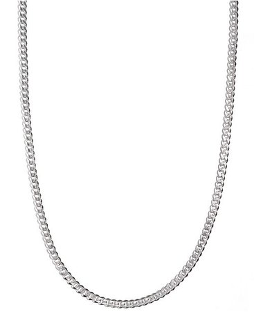 """Macy's Men's Sterling Silver Necklace, 24"""" 5-1/2mm Chain & Reviews - Necklaces - Jewelry & Watches - Macy's"""