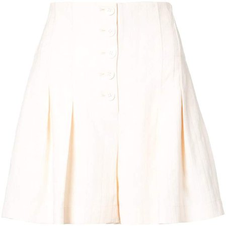 flared tailored shorts