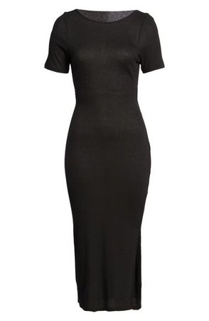 Row A Ribbed Body-Con Midi Dress | Nordstrom