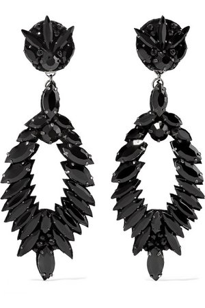 Ranjana Khan | Crystal clip earrings | NET-A-PORTER.COM