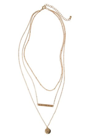 BP. Plate & Disc Layered Necklace | Nordstrom