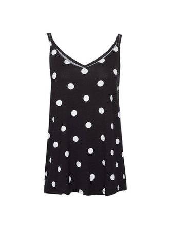 Black Spot Print Swing Camisole Top | Dorothy Perkins