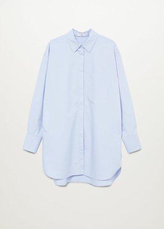 Oversize poplin shirt - Women | Mango USA