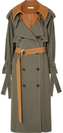 ADEAM - Layered Wool-blend Gabardine Trench Coat - Camel